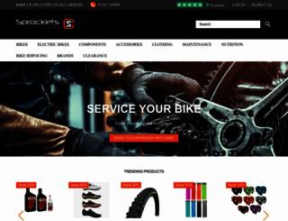 sprocketscycles.com screenshot