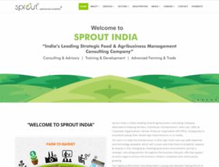 sproutindia.in screenshot