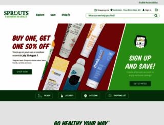 sprouts.com screenshot