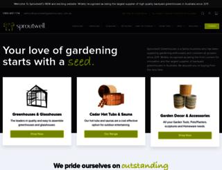 sproutwellgreenhouses.com.au screenshot