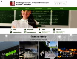spsepn.edu.sk screenshot