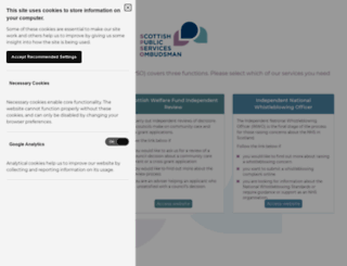 spso.org.uk screenshot