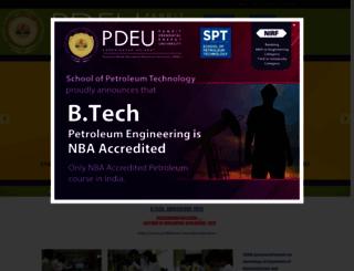 spt.pdpu.ac.in screenshot