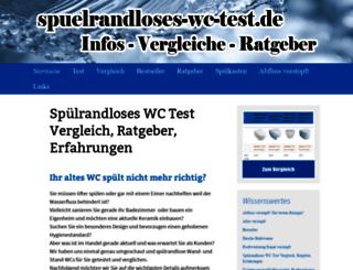 spuelrandloses-wc-test.de screenshot