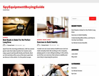 spy-equipment-buying-guide.com screenshot