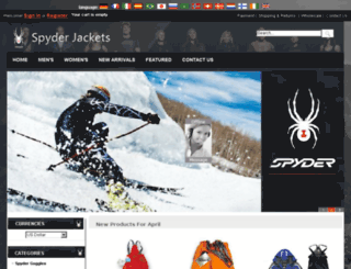 spyder-jackets.org screenshot