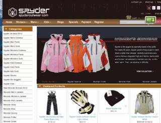 spyderoutwear.com screenshot