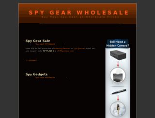 spygearwholesale.com screenshot