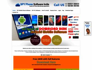 spyphonesoftwareindia.com screenshot