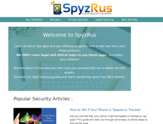 spyzrus.com screenshot