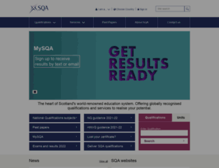 sqa.org.uk screenshot