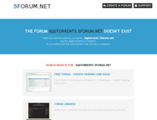 sqgtorrents.5forum.net screenshot