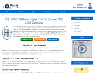 sql-2008.databaserepair.net screenshot