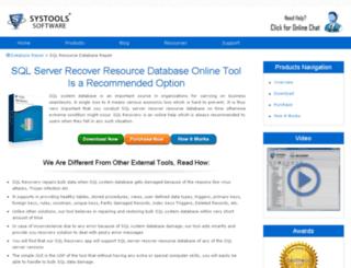 sql-resource.databaserepair.net screenshot