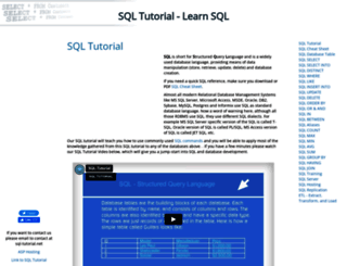 sql-tutorial.net screenshot
