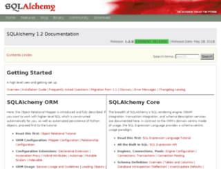 sqlalchemy.readthedocs.org screenshot