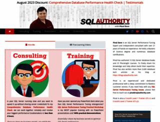 sqlauthority.com screenshot