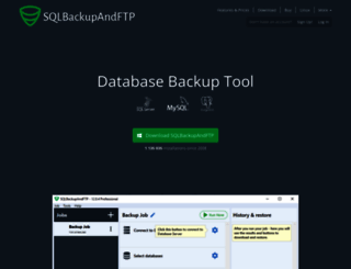 sqlbackupandftp.com screenshot