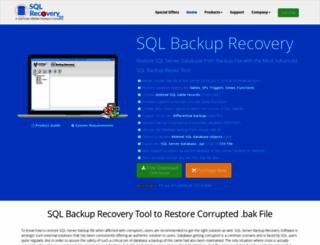 sqlbackuprecovery.sqlrecoverytool.com screenshot