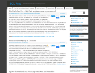 sqlfool.com screenshot