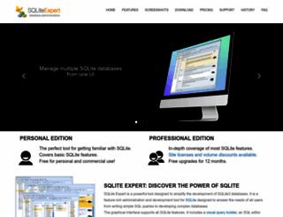 sqliteexpert.com screenshot