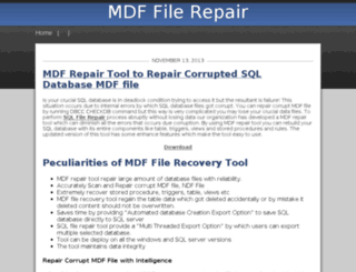 sqlmdfrepair.rollr.com screenshot