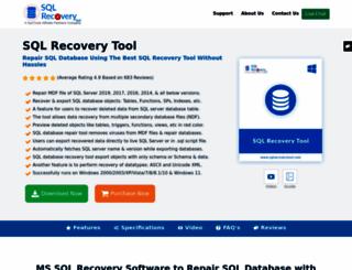 sqlrecoverytool.com screenshot