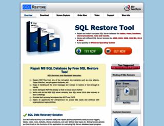 sqlrestore.org screenshot
