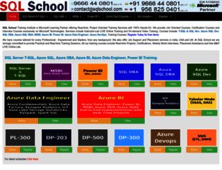 sqlschool.com screenshot