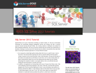 sqlserver2012tutorial.com screenshot