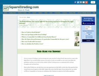 squareetrading.com screenshot