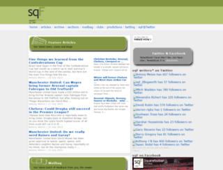 squarefootball.net screenshot