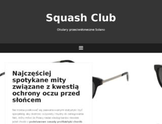 squashballclub.pl screenshot