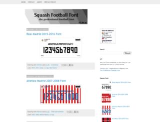 squashfootballfont.blogspot.com screenshot