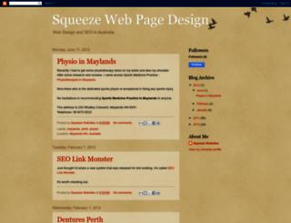 squeeze-webpage-design.blogspot.com screenshot
