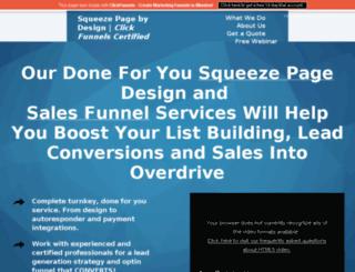 squeezepagebydesign.com screenshot