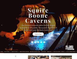 squireboonecaverns.com screenshot