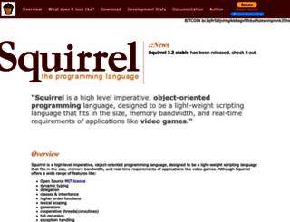 squirrel-lang.org screenshot