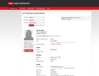 sr.fakenamegenerator.com screenshot