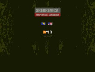 srebrenica-mappinggenocide.com screenshot
