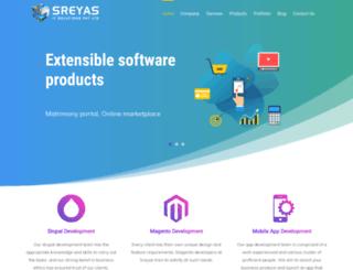 sreyas.com screenshot