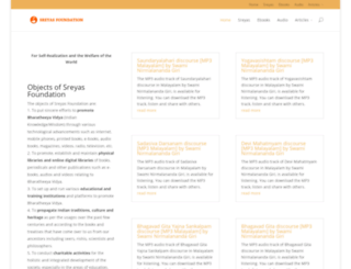 sreyasfoundation.org screenshot