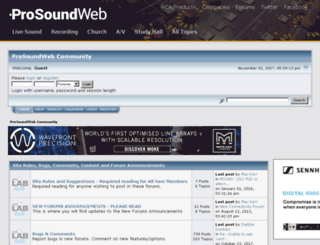 srforums.prosoundweb.com screenshot