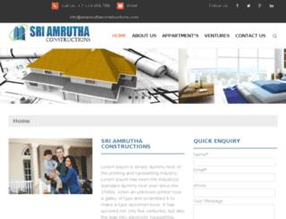 sriamruthaconstructions.com screenshot