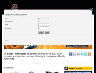 sribalajitechnologies.com screenshot