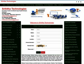 srihithatechnologies.com screenshot