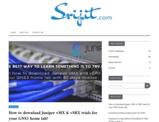 srijit.com screenshot