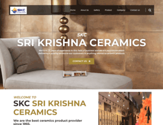 srikrishnaceramics.com screenshot