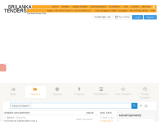 srilanka.tendertiger.com screenshot