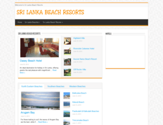 srilankabeachresorts.net screenshot